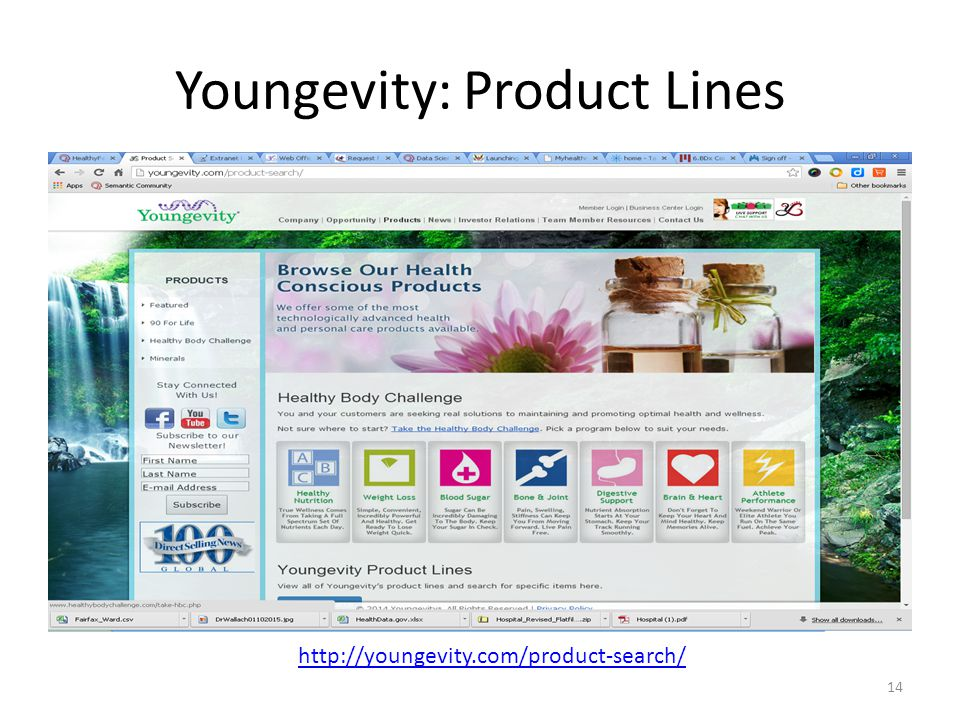 Youngevity: Product Lines 14 http://youngevity.com/product-search/