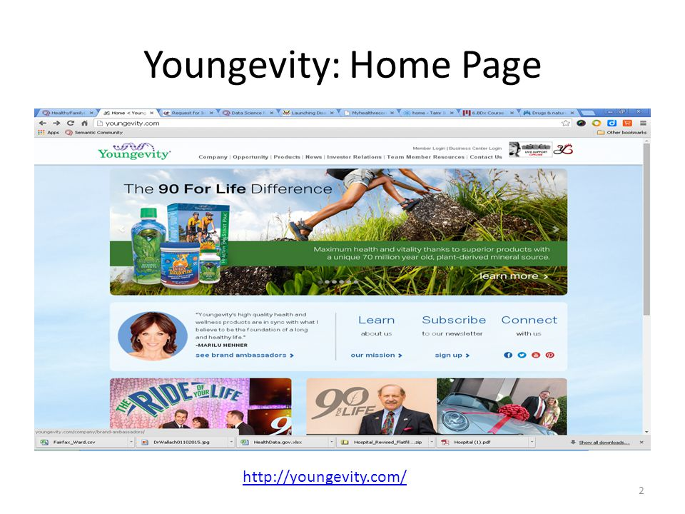Youngevity: Home Page http://youngevity.com/ 2