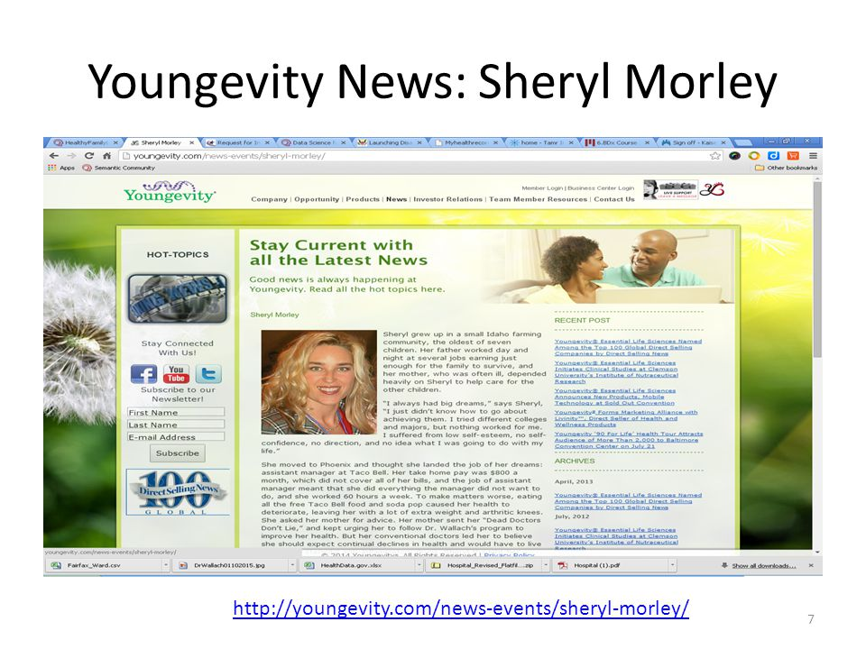 Youngevity News: Sheryl Morley http://youngevity.com/news-events/sheryl-morley/ 7