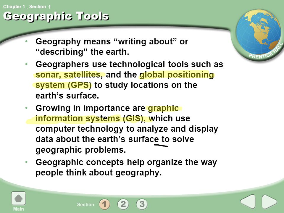 Chapter 1, Section Five questions can help organize information about places: (5 themes) Geography's Five Themes 1.What is the location of a place.