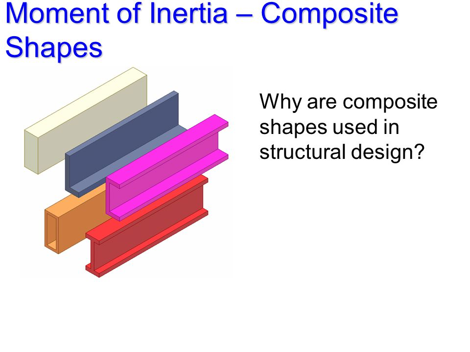 Moment of Inertia – Composite Shapes Why are composite shapes used in structural design?