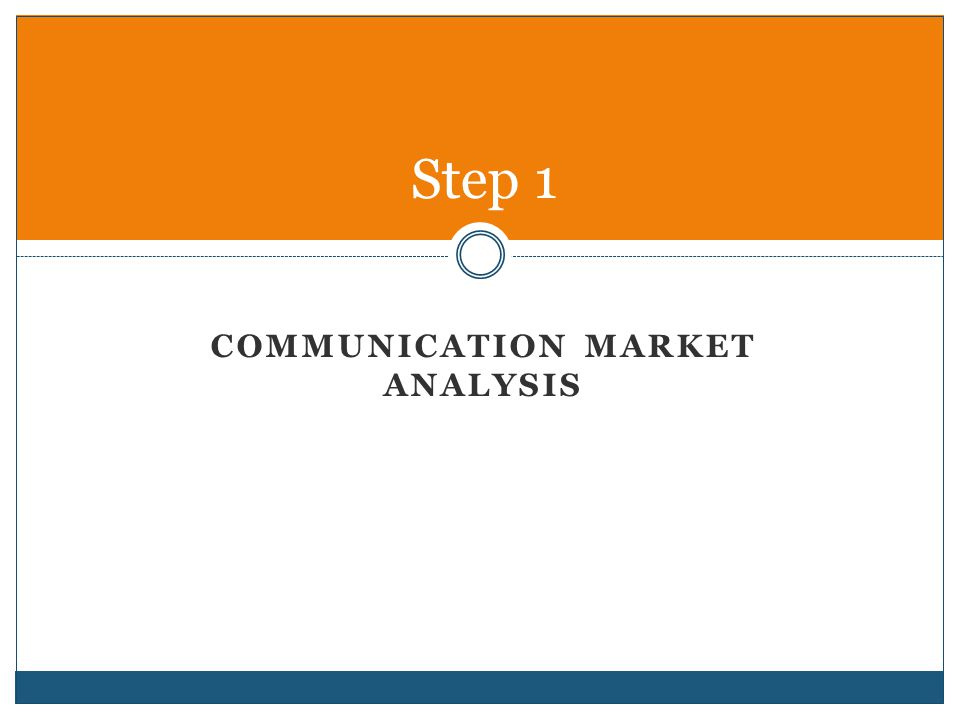 Promotions Opportunity Analysis Step 1: o Conduct a Communication Market Analysis o There are three areas in this analysis: 1) Competitors Analysis 2) Opportunities Analysis 3) Target Market Analysis