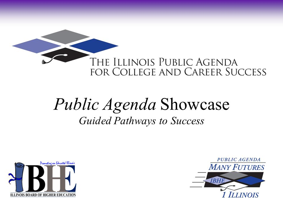 Public Agenda Showcase Guided Pathways to Success Sugar Grove Aurora Copley Plano Waubonsee Community College Founded in 1966 Serve 12,000 students each semester Network of four campuses Commitment to Diversity Urban, suburban and rural Hispanic Serving Institution since 2009 Association of Community College Trustees 2012 Central Regional Equity Award winner