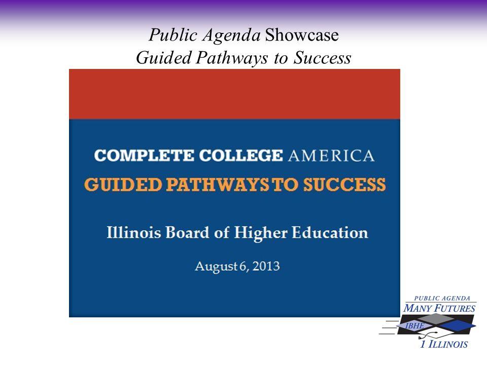 Public Agenda Showcase Guided Pathways to Success