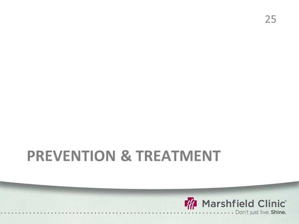 PREVENTION & TREATMENT 25