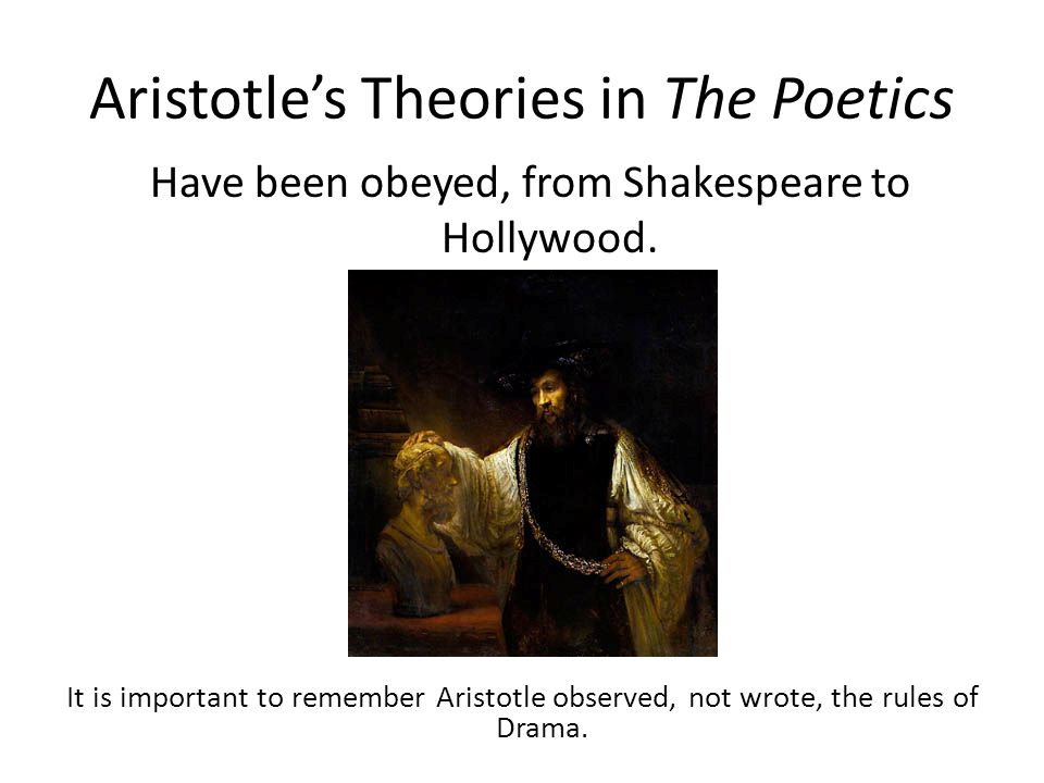 Aristotle believed that… it is man's innate nature to imitate.