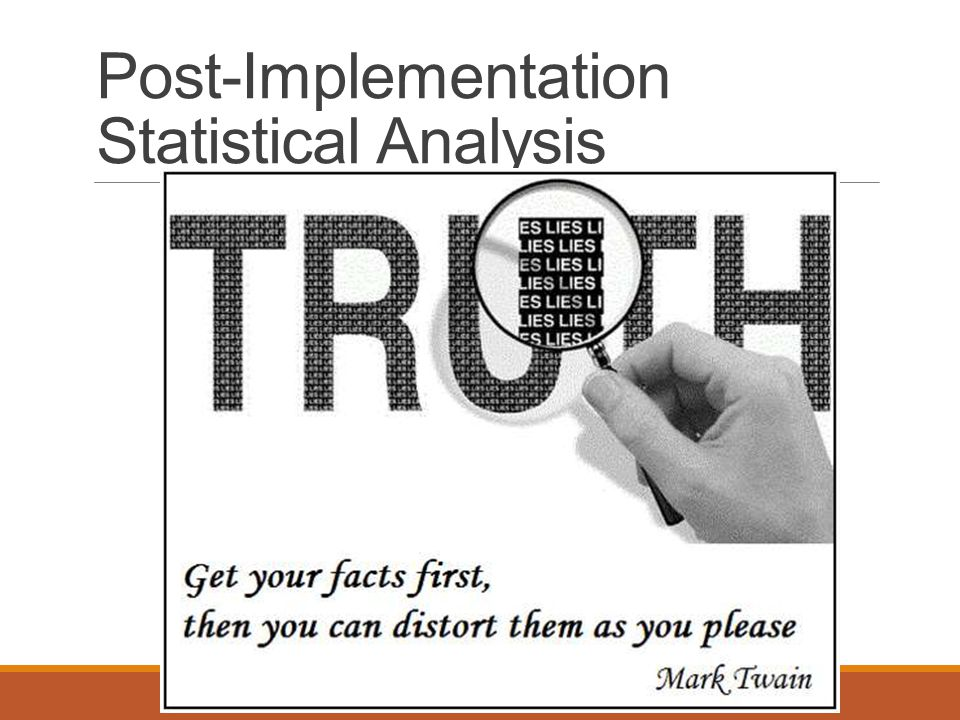 Post-Implementation Statistical Analysis