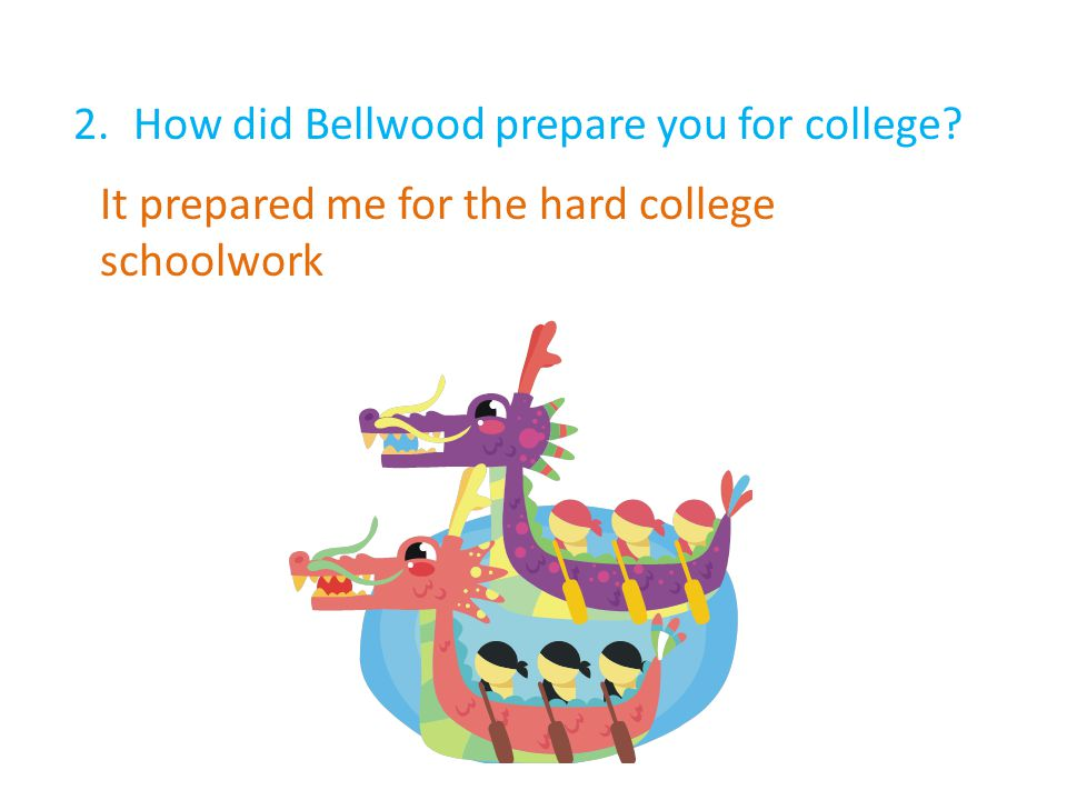 2.How did Bellwood prepare you for college It prepared me for the hard college schoolwork
