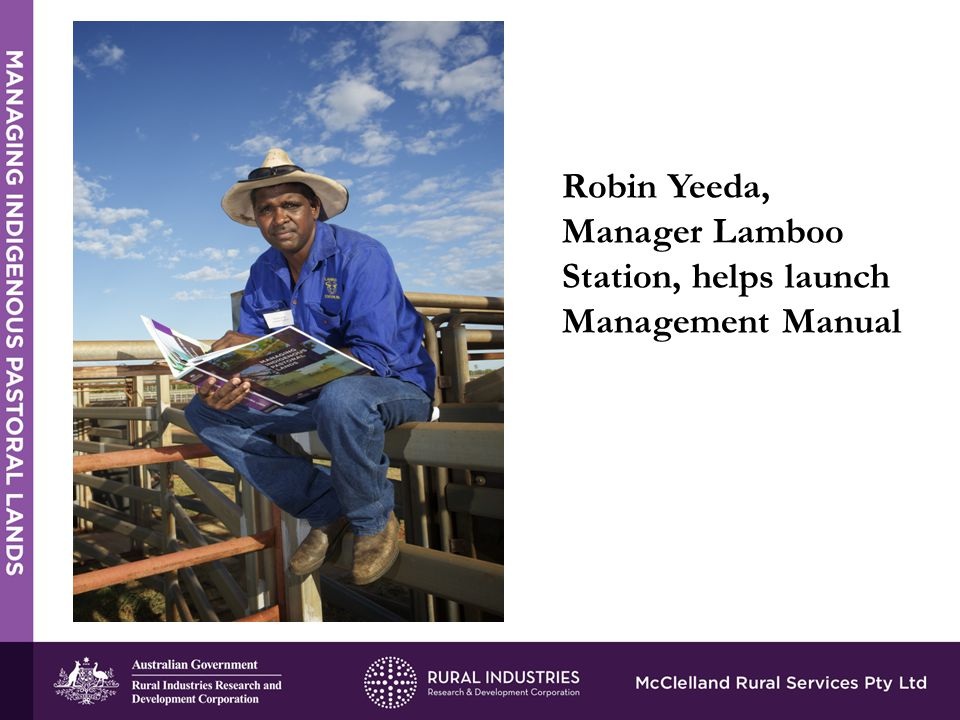 Robin Yeeda, Manager Lamboo Station, helps launch Management Manual