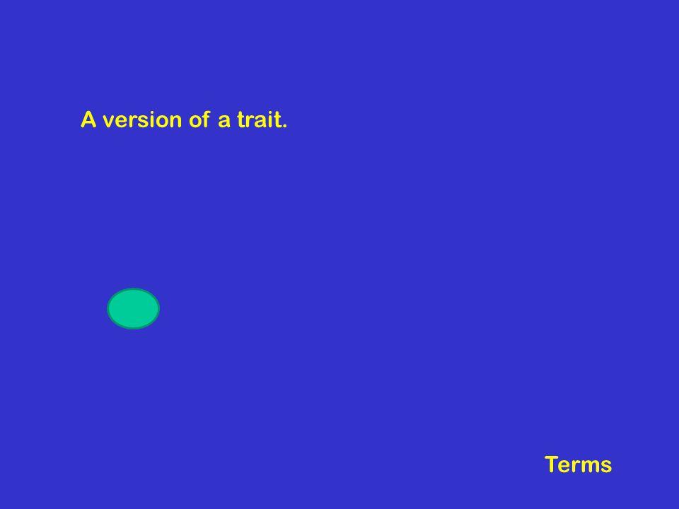 A version of a trait. Terms