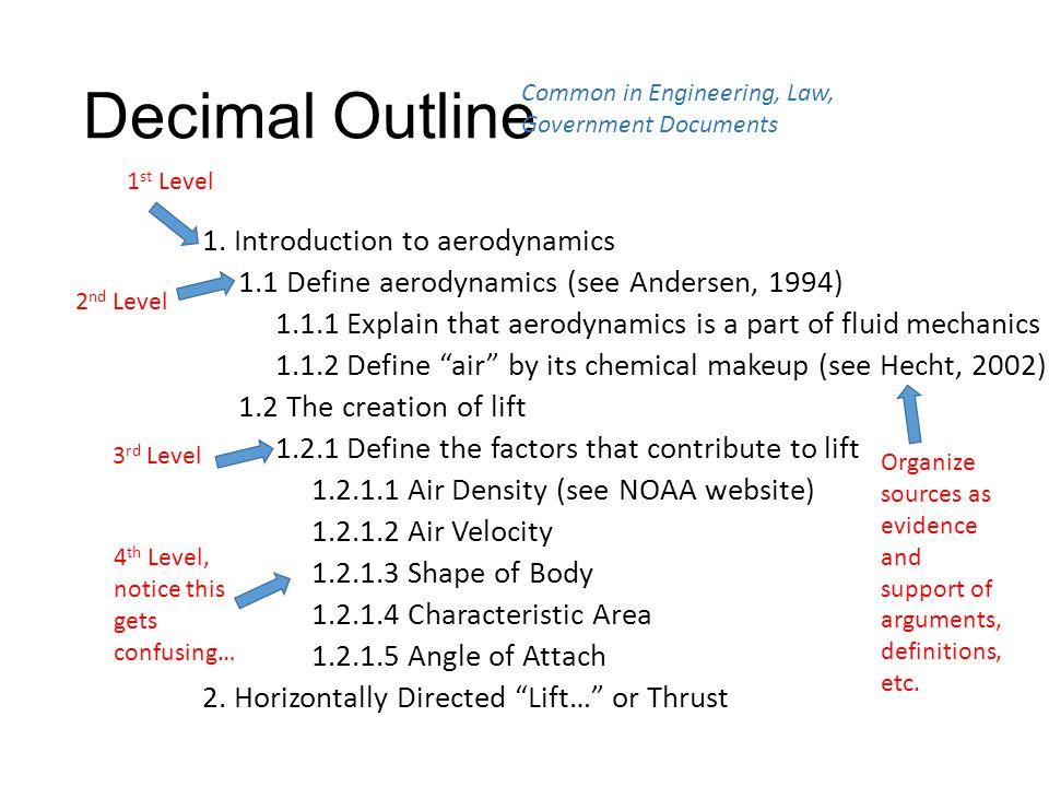 Decimal Outline 1.