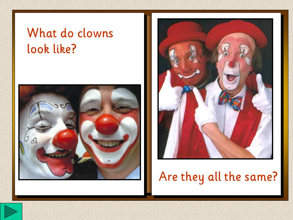 Have you ever met a clown? Do you know what a clown is?