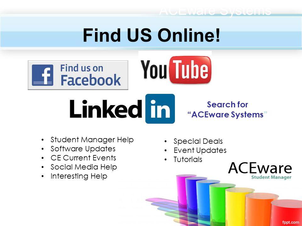 Find US Online.