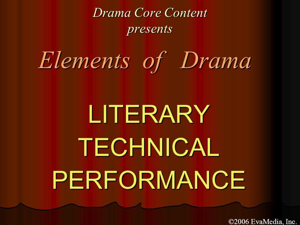 Performance Elements of Drama ACT III ACT III