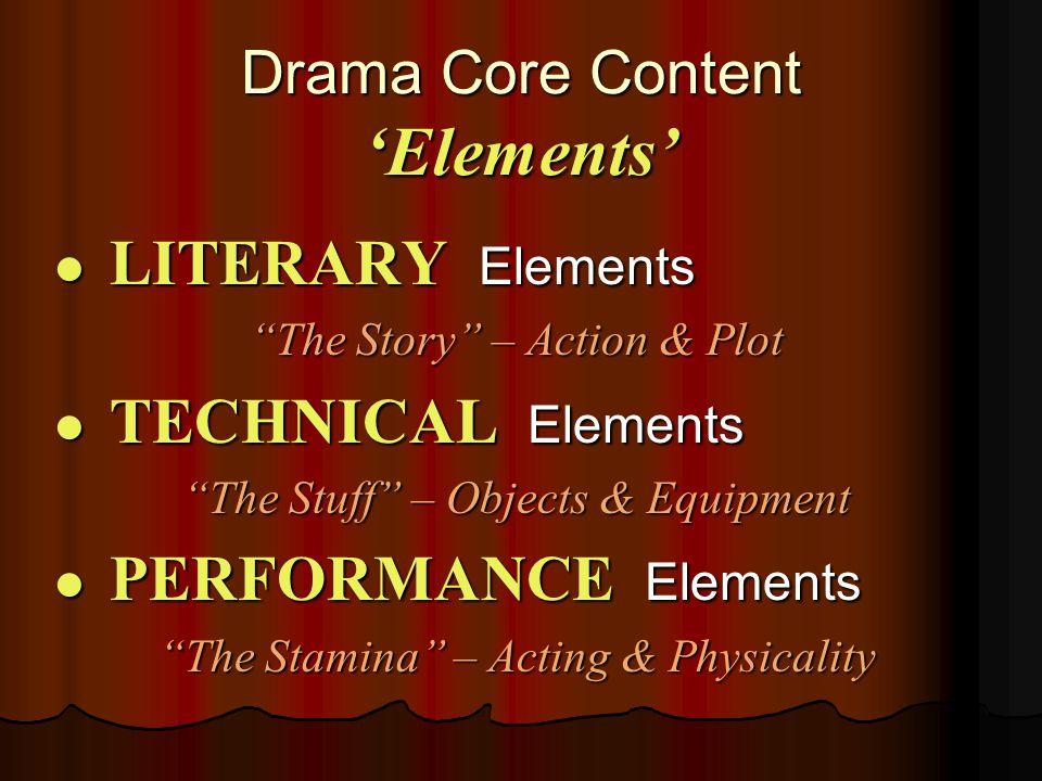 Literary Elements of Drama ACT I ACT I