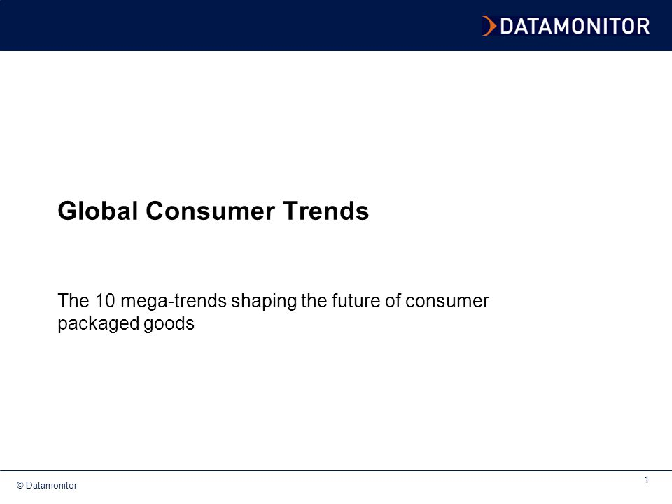 © Datamonitor 2 Agenda Introduction The 10 mega-trends