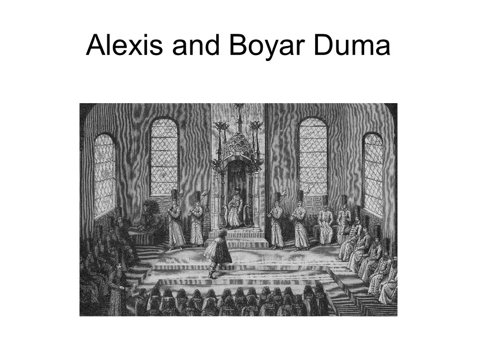 Alexis and Boyar Duma