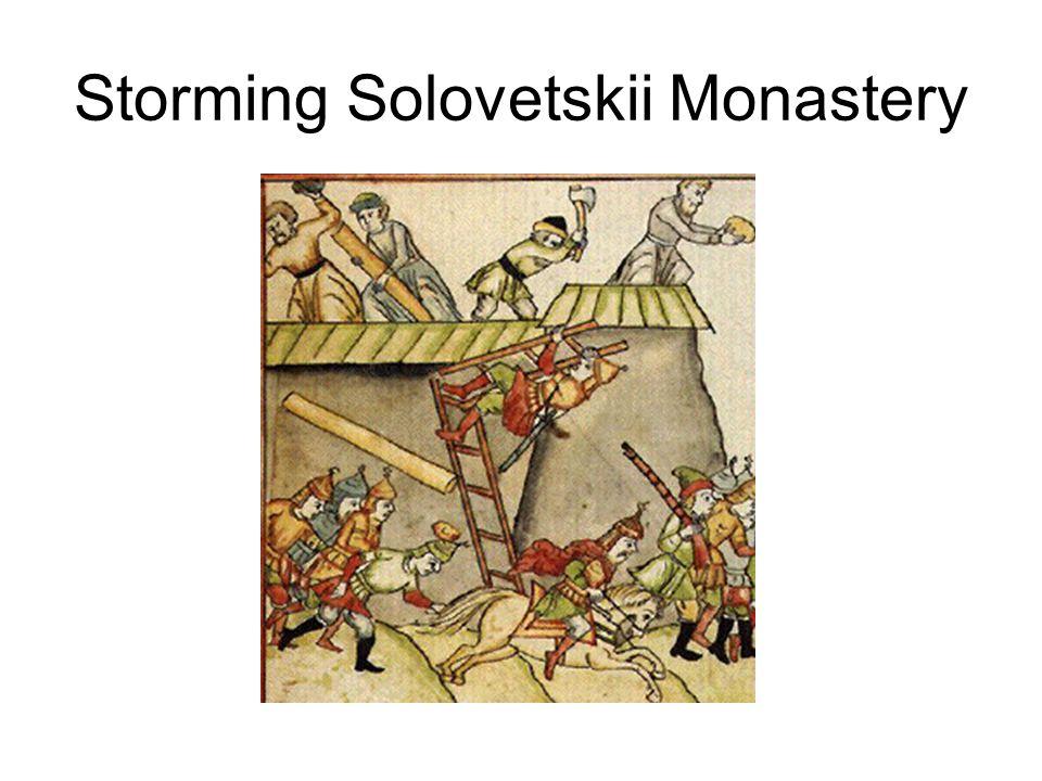 Storming Solovetskii Monastery