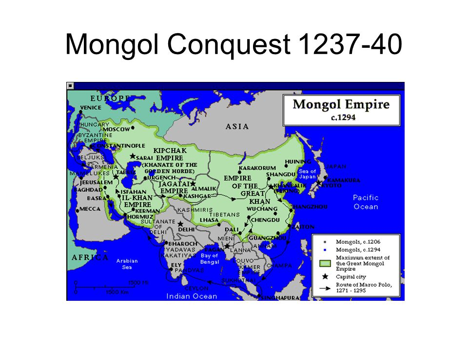 Mongol Conquest 1237-40