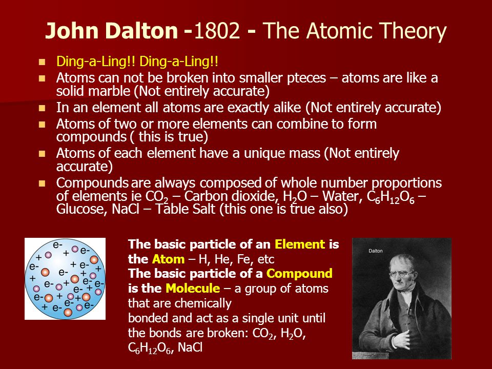 John Dalton -1802 - The Atomic Theory Ding-a-Ling!.