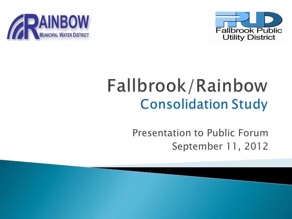 Presentation to Public Forum September 11, 2012
