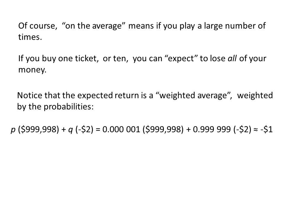 Consider the following gambling scheme: You bet $1.