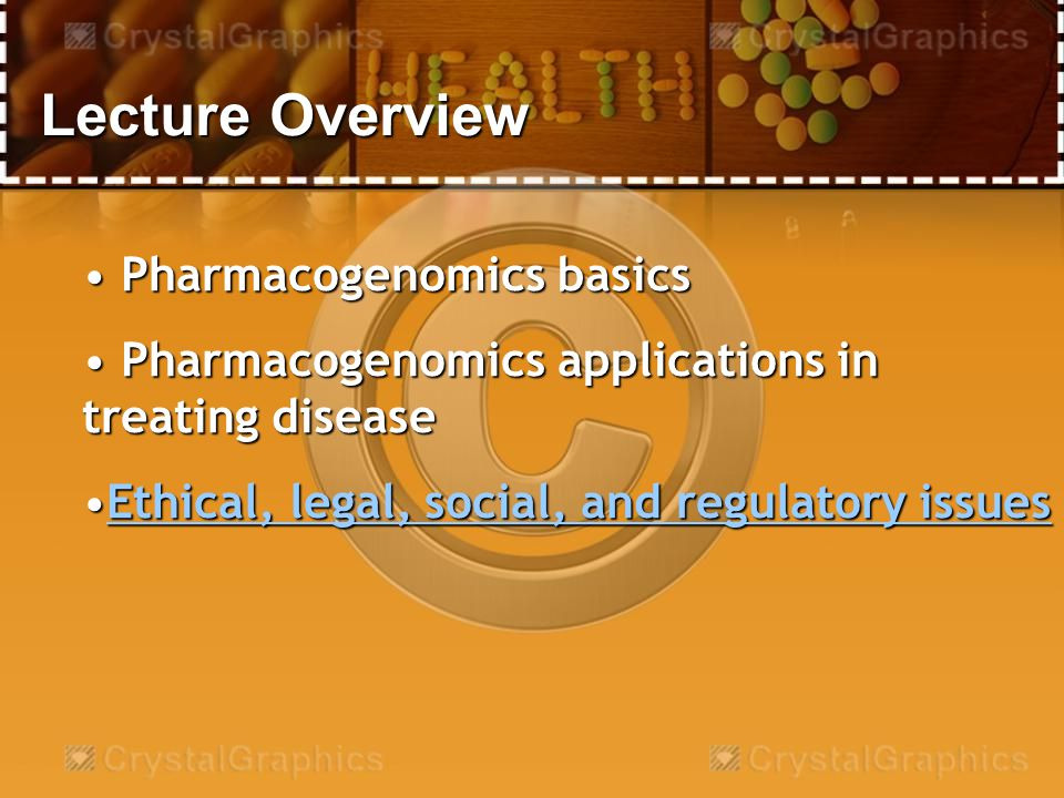 Pharmagogenomics basics