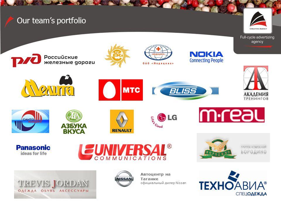 Автоцентр на Таганке официальный дилер Nissan Our team's portfolio