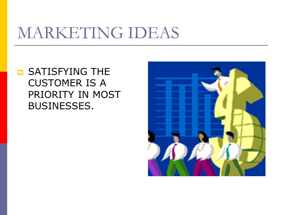 MARKETING IDEAS  Many factors contribute to making business successful.