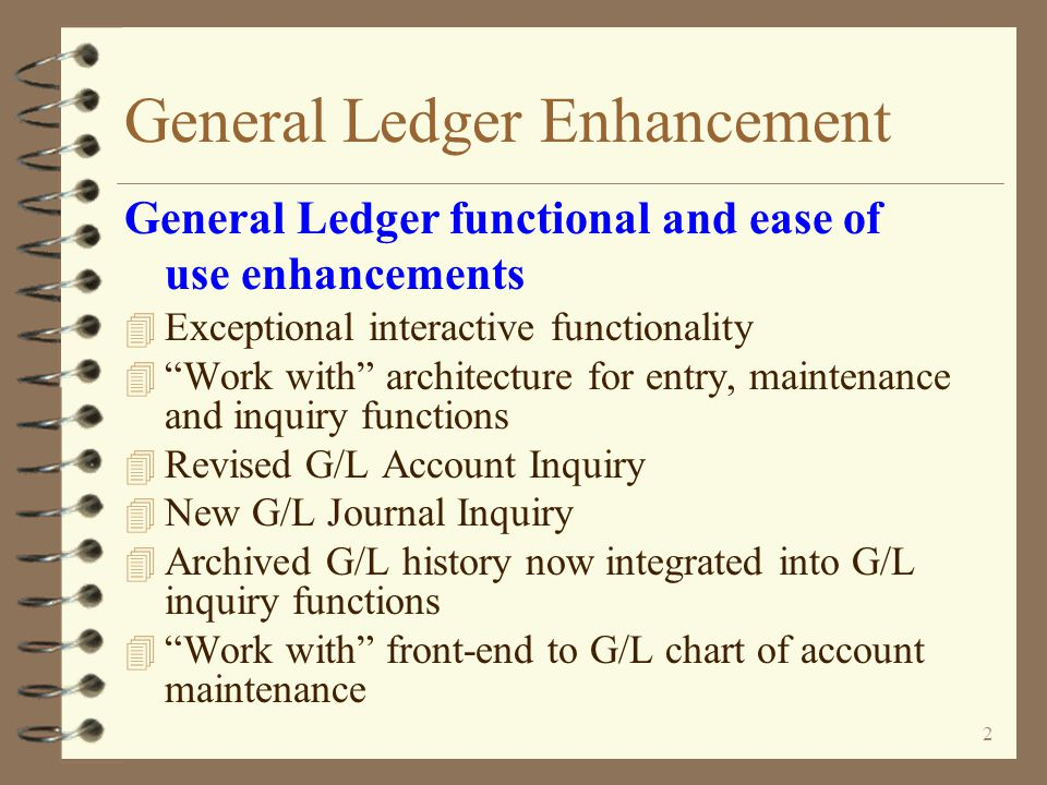 General Ledger Enhancement An Enhancement For iSeries 400 DMAS from  Copyright I/O International, 2009, 2010 Skip Intro