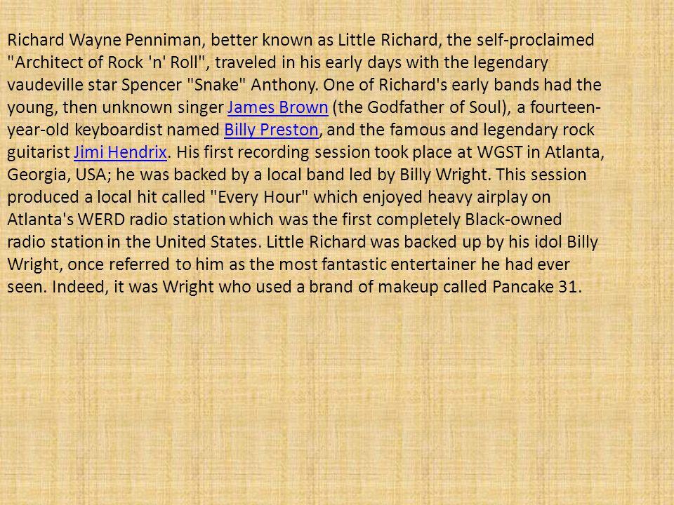 Born Richard Wayne Penniman on December 5, 1932, in Macon, Georgia, Little Richard was the third of 12 children.