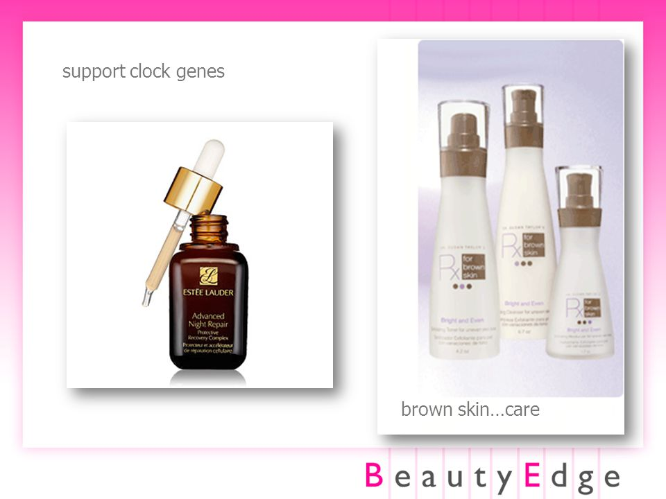 support clock genes brown skin…care