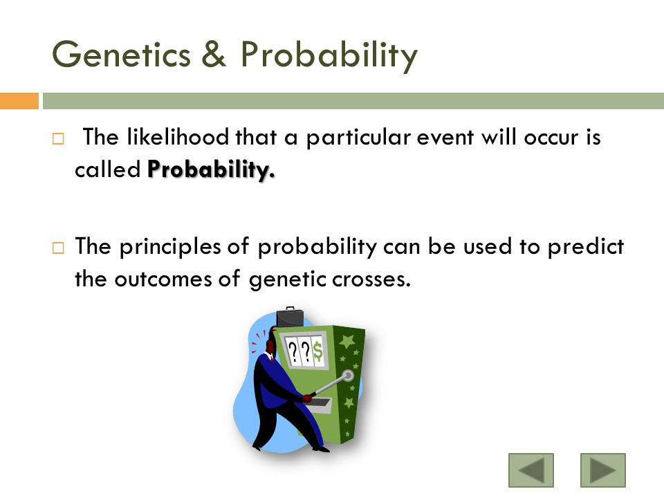 Probability. The likelihood that a particular event will occur is called Probability.