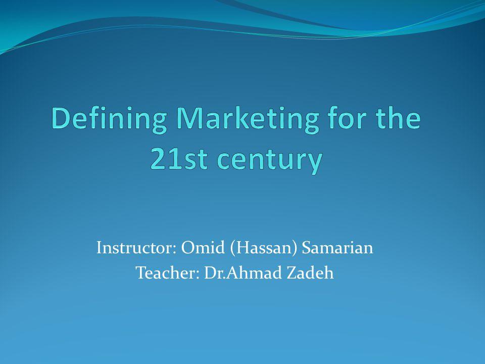 Instructor: Omid (Hassan) Samarian Teacher: Dr.Ahmad Zadeh