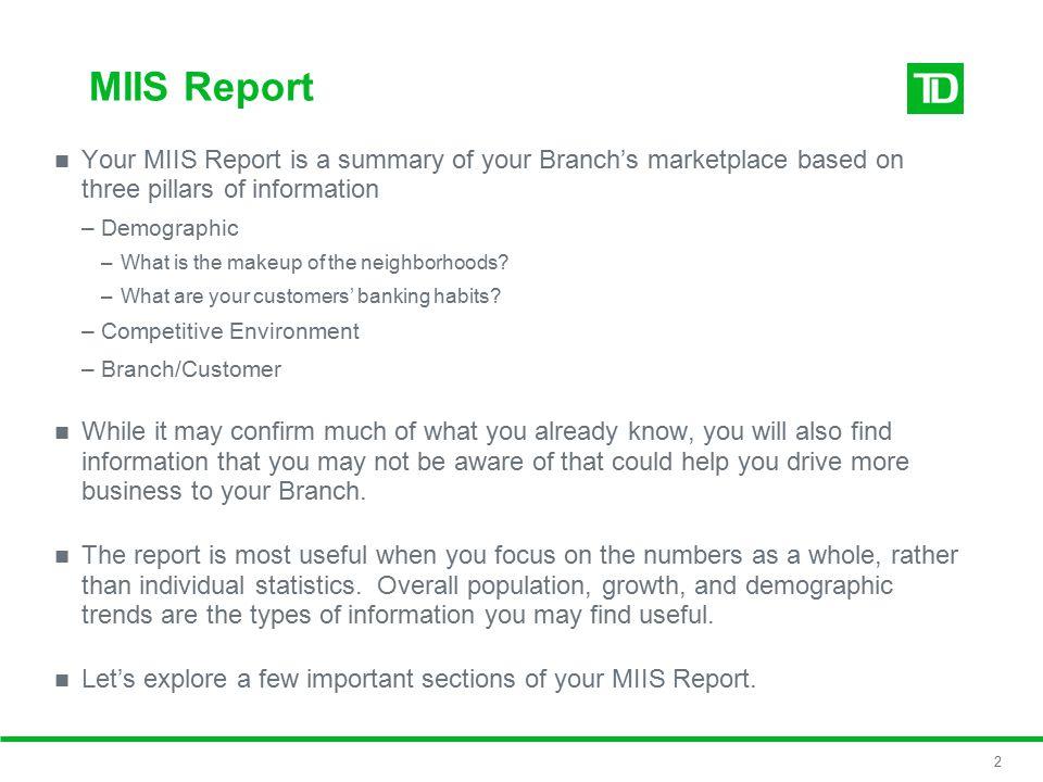 Understanding My MIIS Report