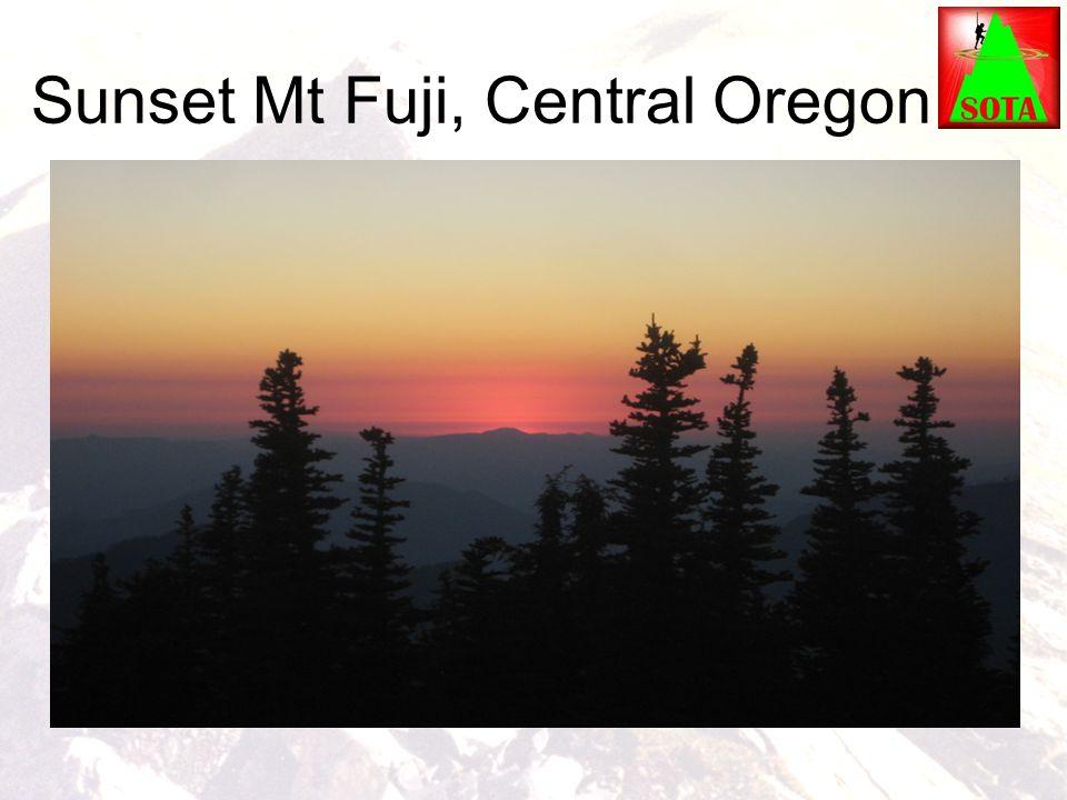 Sunset Mt Fuji, Central Oregon
