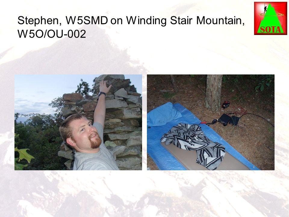 Stephen, W5SMD on Winding Stair Mountain, W5O/OU-002