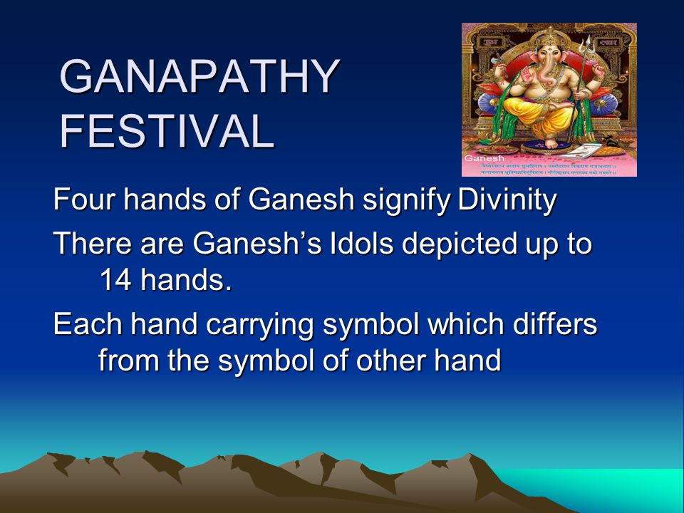 GANAPATHY FESTIVAL http://www.youtube.com/watch?v=- JHkJB5g0P0&feature=related http://www.youtube.com/watch?v=- JHkJB5g0P0&feature=related http://www.youtube.com/watch?v=c2TSeR E8AXI http://www.youtube.com/watch?v=c2TSeR E8AXI
