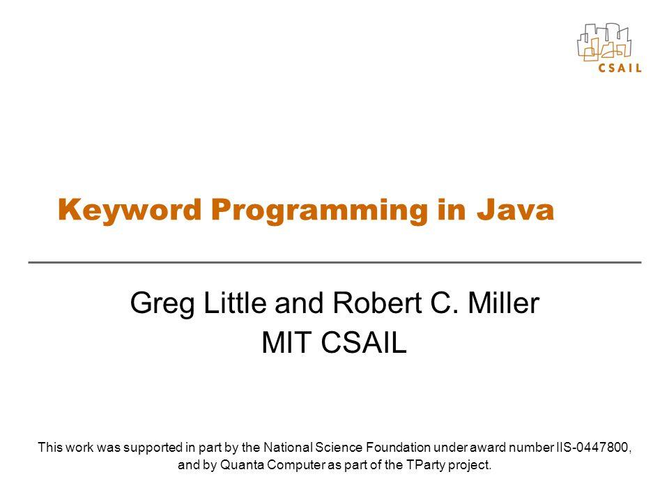 Keyword Programming