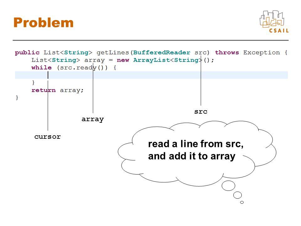 Score Functions array List add boolean List, String src BufferedReader readLine String BufferedReader new String String add line 11