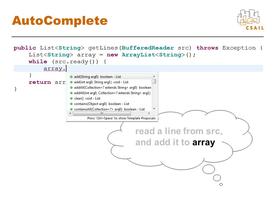 read a line from src, and add it to array