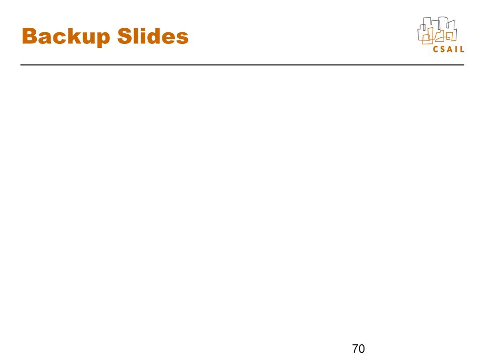 Backup Slides 70