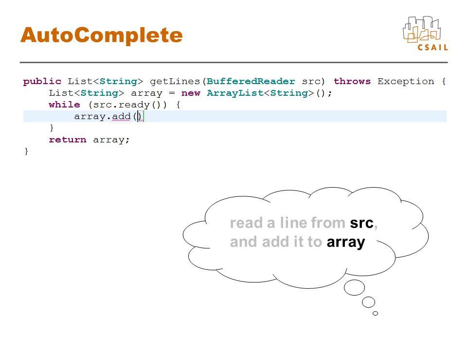 Conclusion array.add(src.readLine());