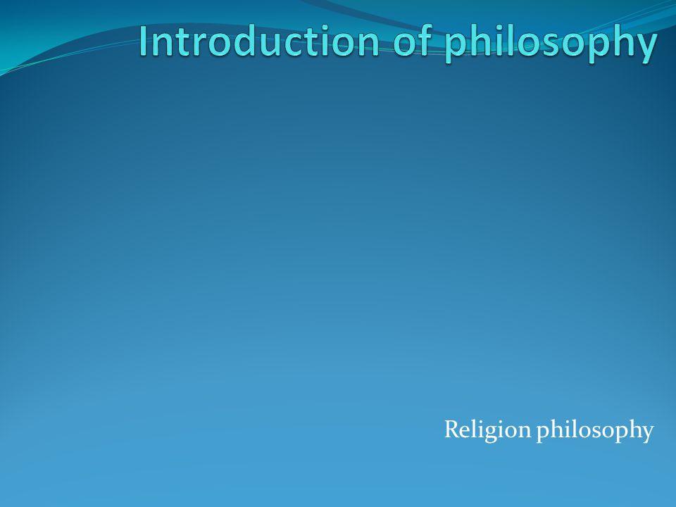 Religion philosophy