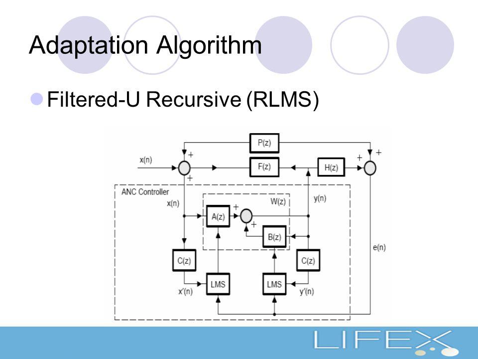 Adaptation Algorithm Filtered-U Recursive (RLMS)