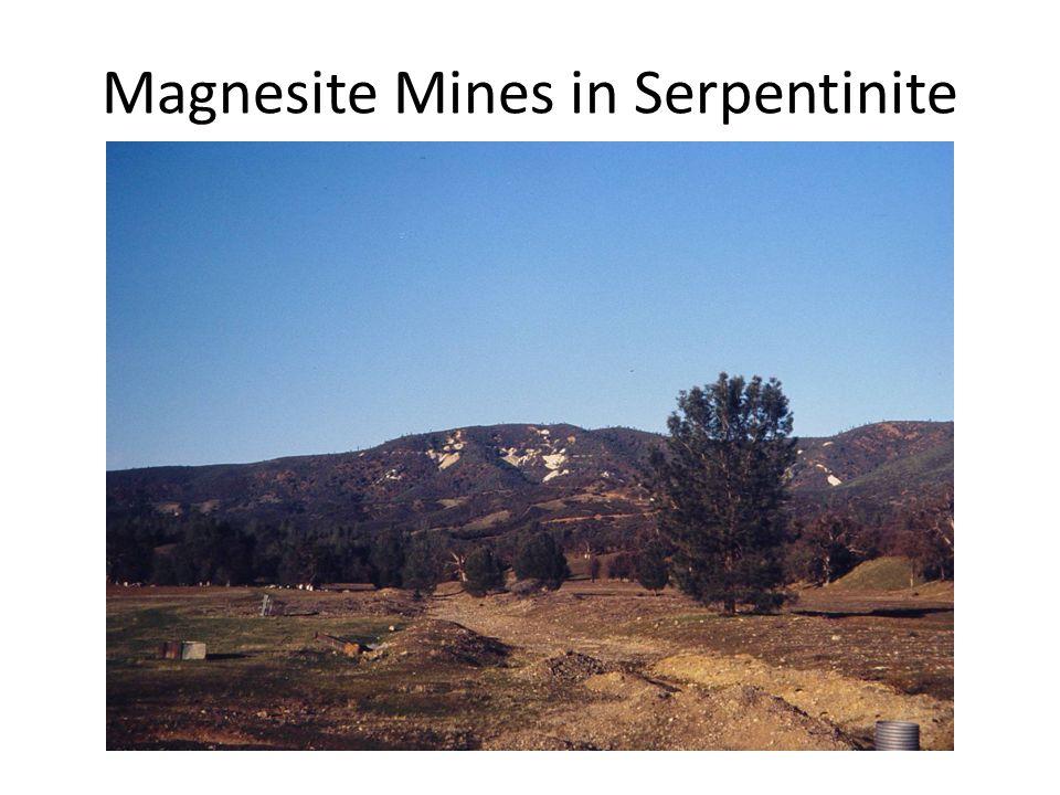 Magnesite Mines in Serpentinite