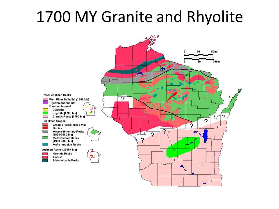 1700 MY Granite and Rhyolite