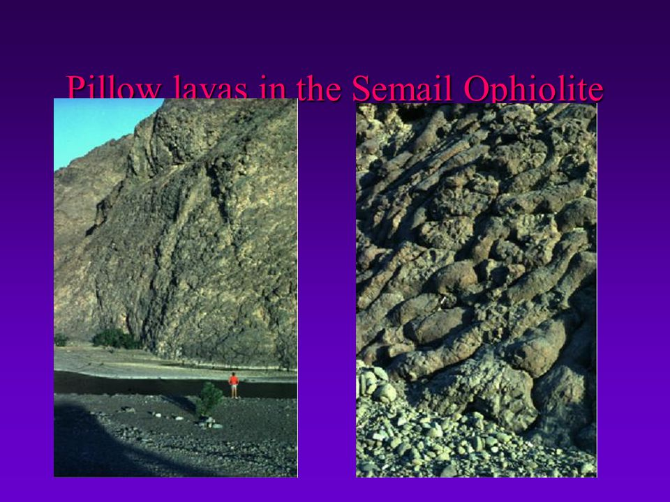 Pillow lavas in the Semail Ophiolite