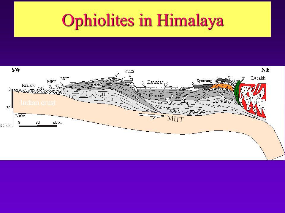Ophiolites in Himalaya