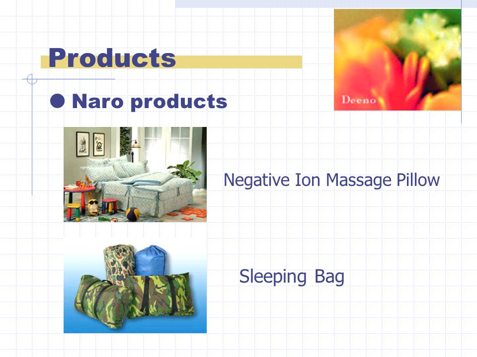 Products  Naro products Negative Ion Massage Pillow Sleeping Bag